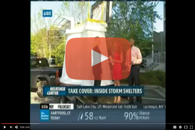 Rotomolded Storm Shelter on the Weather Channel
